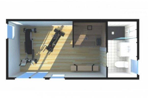 Construction studio salle de sport sauna Rhône-Alpes
