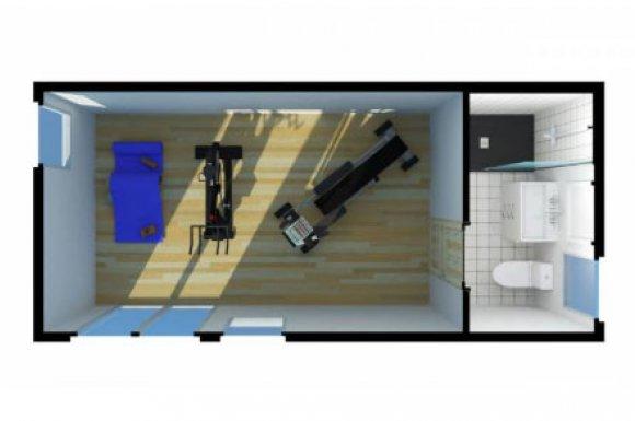 Construction studio salle de sport Rhône-Alpes