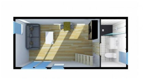 Construction studio chambre ami mezzanine Rhône-Alpes