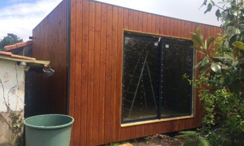 Studio de jardin autoconstruction. Extension de maison Lyon