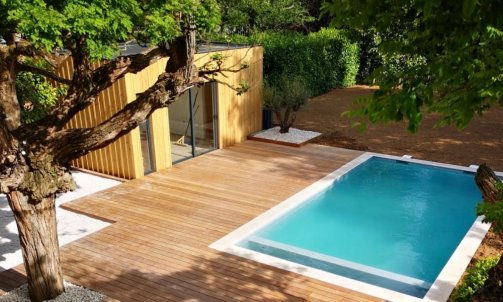 Pool house Lyon. Chambre d'ami